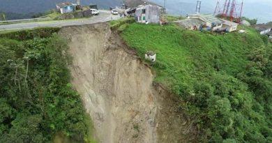 El enorme derrumbe que preocupa a las autoridades de gestión del riesgo del Putumayo