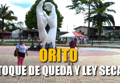 En Orito habrá toque de queda y ley seca durante este puente festivo