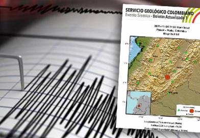 Sismo de magnitud 3.0 sacudió al Huila en la madrugada de este martes
