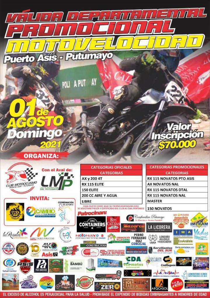 Este domingo vuelve el espectáculo de motovelocidad a las calles de Puerto Asís - Noticias de Colombia